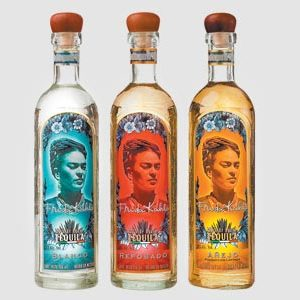 Fridah Khalo bottled as Fine Mexican Tequila