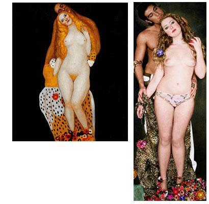 Adam and Eve - Gustav Klimt oil painting