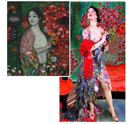 The Dancer - Gustav Klimt oil painting