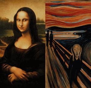 Mona Lisa still smiling... Scream still screaming...