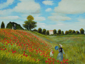 Claude Monet Poppie Field in Argentuil