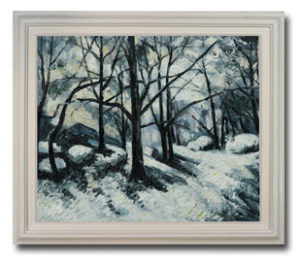 Paul Cezanne - Melting Snow, Fontainebleau oil painting
