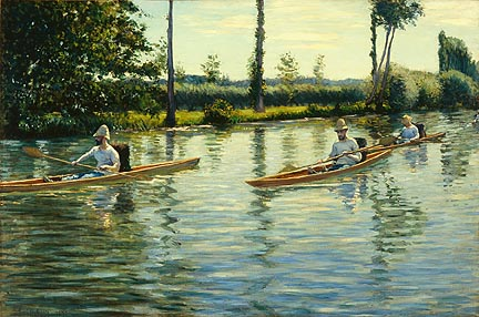 Gustave Caillebotte's Boating on the Yerres