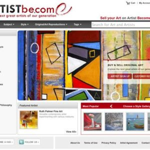 Newly Launched Artist Become (ArtistBe.com)  Allows Artists to Showcase and Sell Art Online