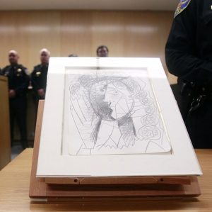 Stolen and recovered: Picasso's drawing is now in safe place.