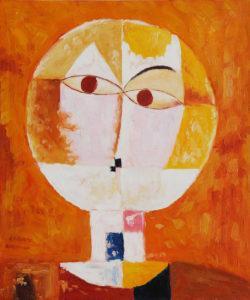 Paul Klee - Head of Man - Senecio Oil Painting
