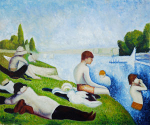 Georges Seurat - created a new art movement called 'pointillism'