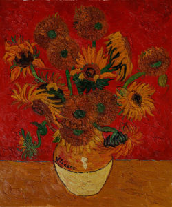 Vincent Van Gogh - Sunflowers (Artist Interpretation Red)
