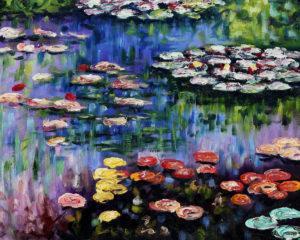 Monet - Water Lilies (pink)