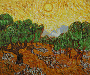 Van Gogh - Olive Trees with Yellow Sun and Sky