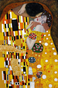 Klimt The Kiss Oil Painting