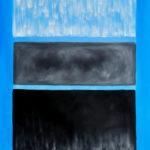 Rothko - White and Black in Blue