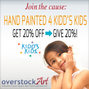 overstockArt.com Partners with the Kidd's Kids Foundation for a Charitable Give & Get Art Event