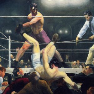 George Wesley Bellows' Dempsey and Firpo Boxing Fight Art