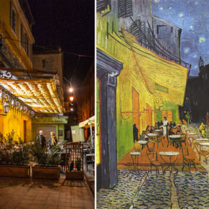 Vincent Van Gogh's Cafe Terrace –  Get lost in bright yellows and deep blues