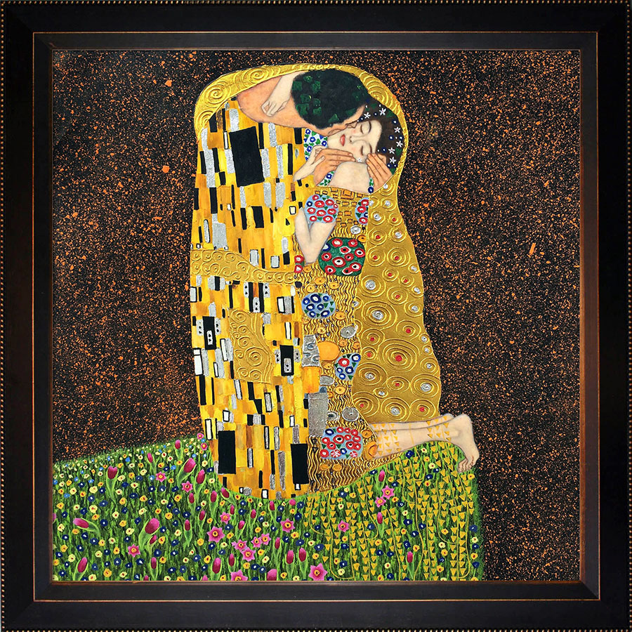 Klimt's The Kiss - Add Gold  to your Decor