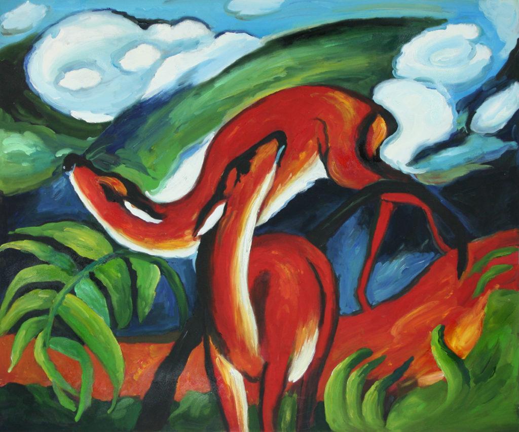 Franz Marc - The Red Deer