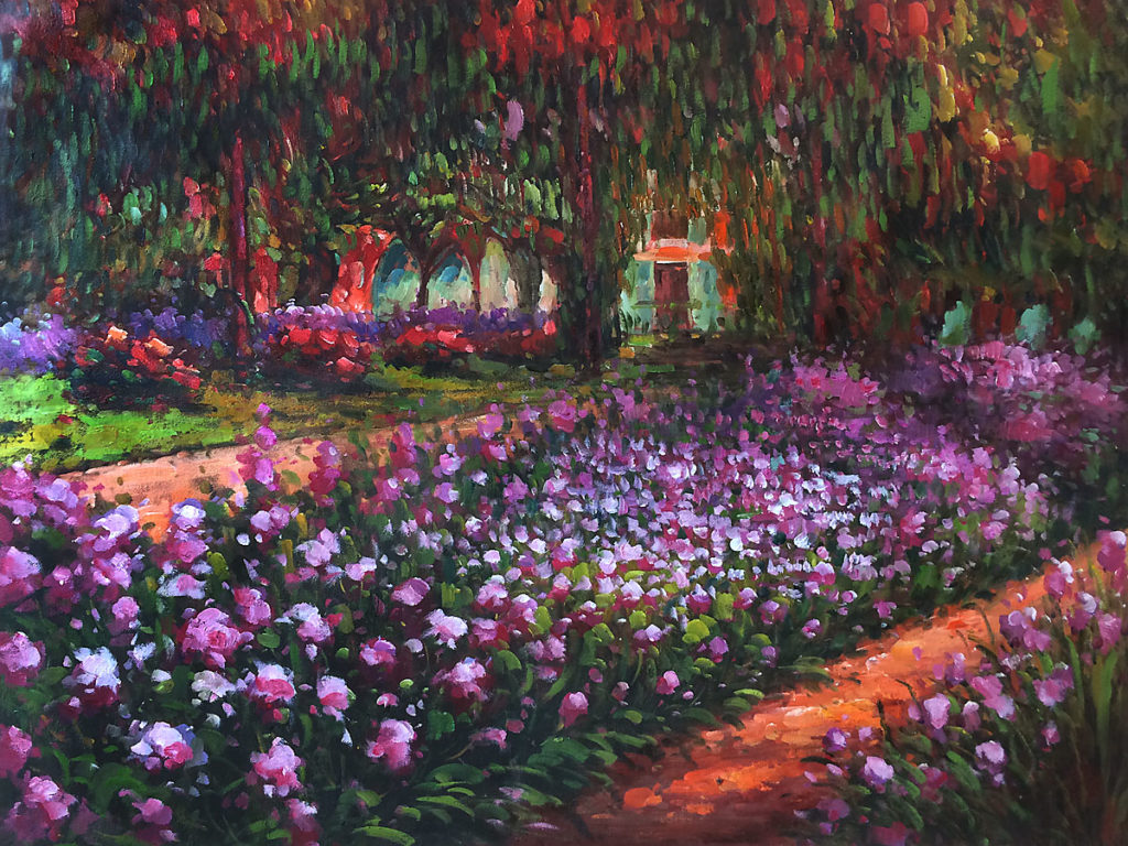 Monet - Artist's Garden at Giverny