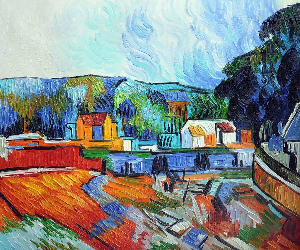 Cezanne - Uferlandschaft