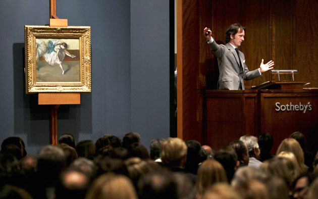 Become an Art Collector: The Auction Floor house at Sotheby's