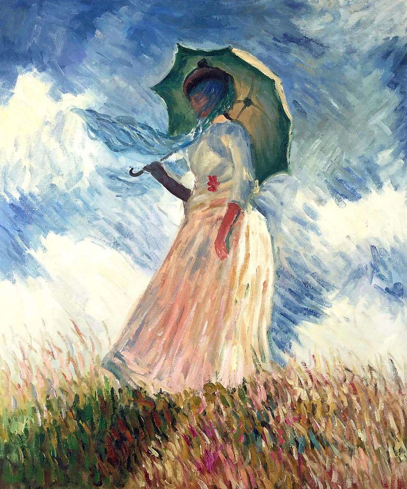 Claude Monet  Woman with a Parasol