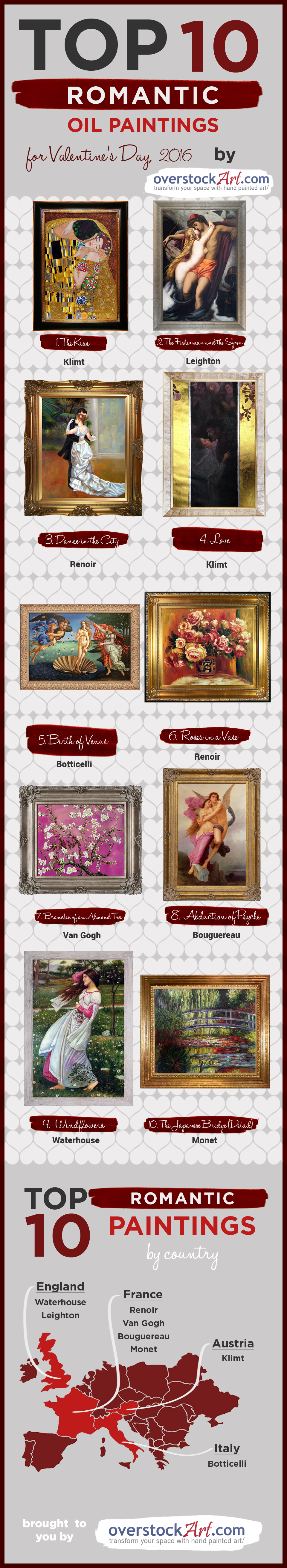 Top 10 Art for Valentine's Day 2016 List