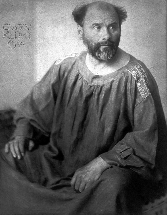 Gustav Klimt, in a 1914 photo