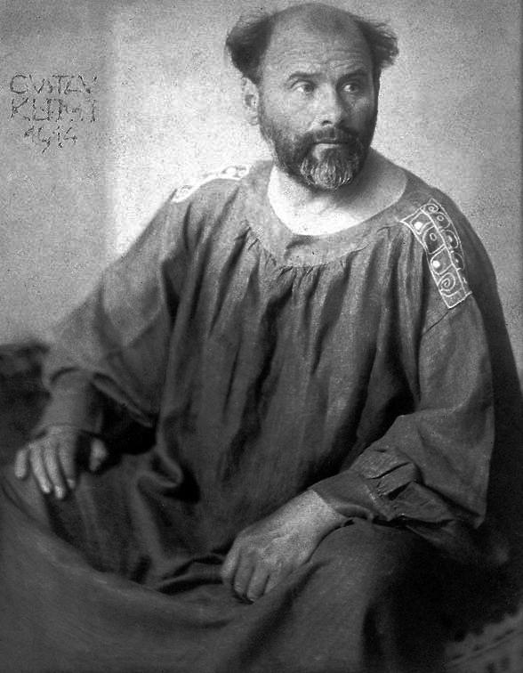Gustav Klimt, in a 1914 photo