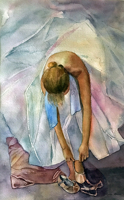 Lacing Up - Lynne Atwood