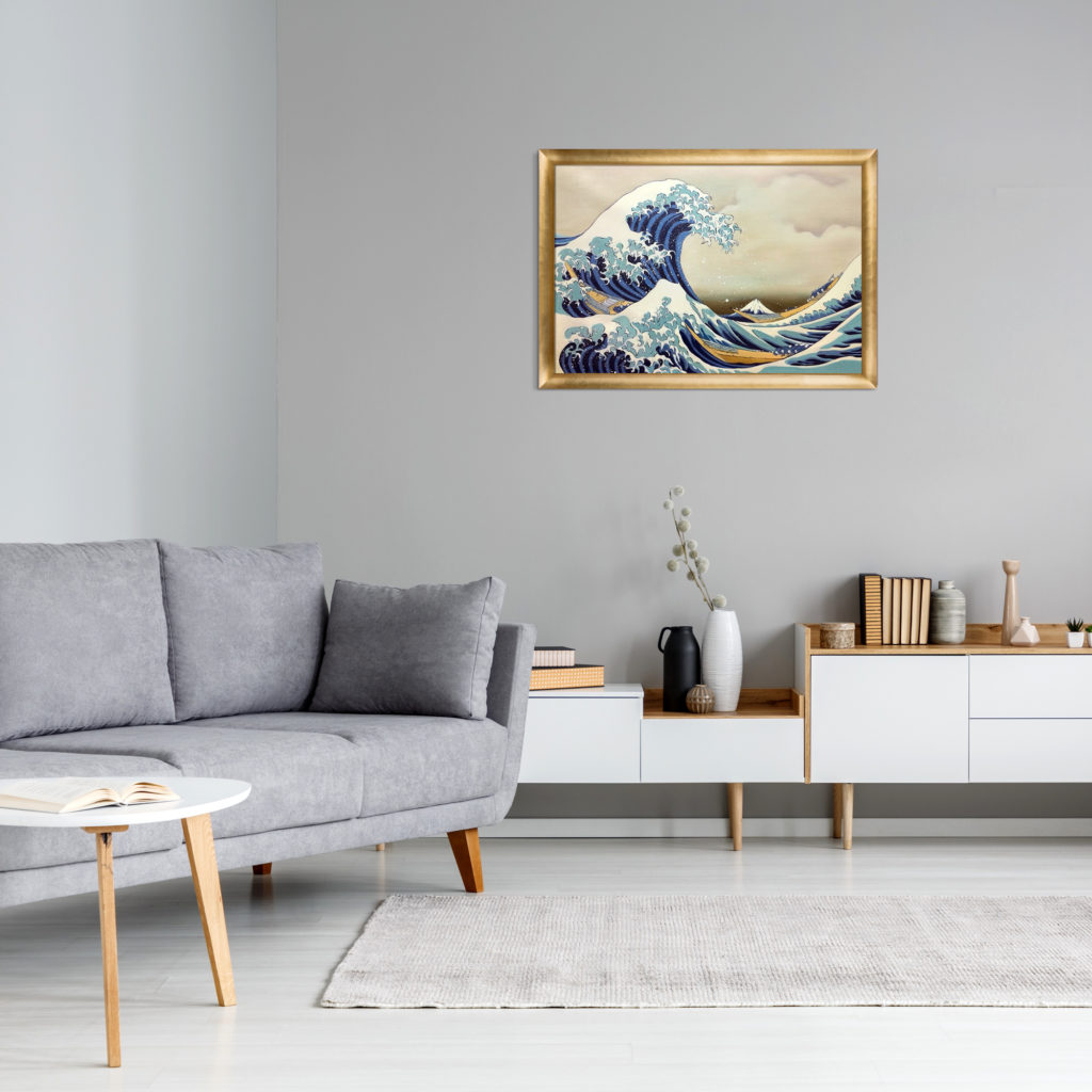 Katsushika Hokusai-The Great Wave off Kanagawa-Pantone Colors 2021