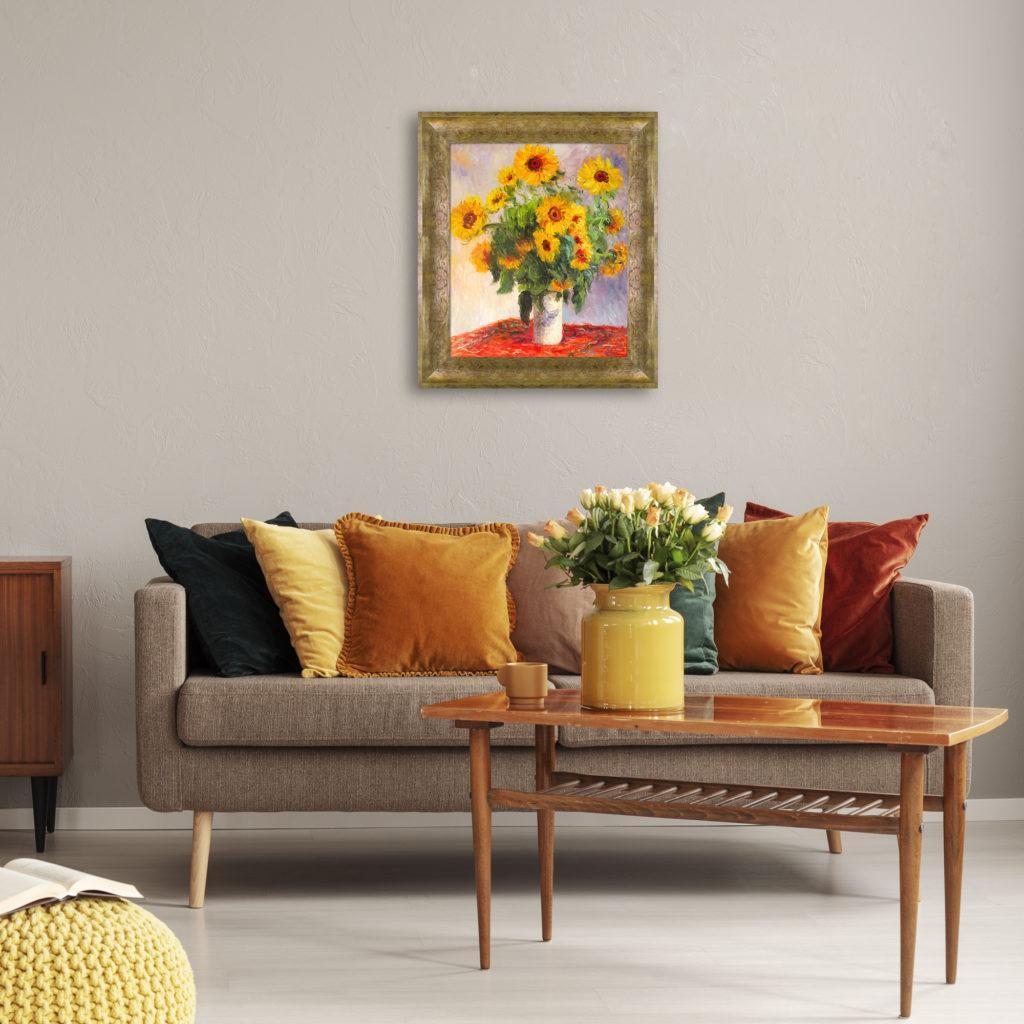 Claude Monet-Sunflowers-Pantone Colors 2021
