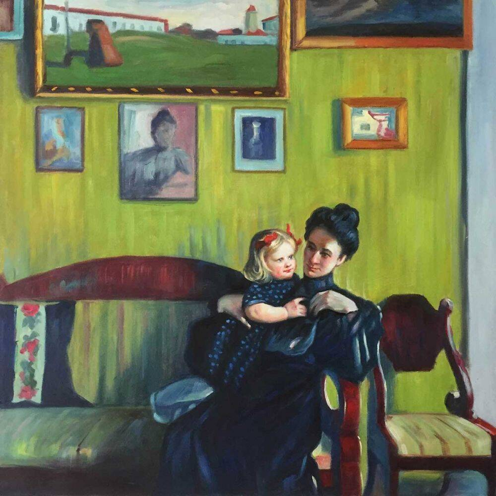 Boris-Kustodiev_Portrait-of-Y.-E.-Kustodieva-wiht-Daughter-Irina_Daughter's-Day