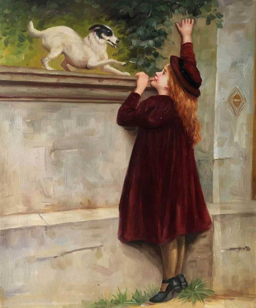Briton-Riviere_Play-Fellows_Daughter's-Day