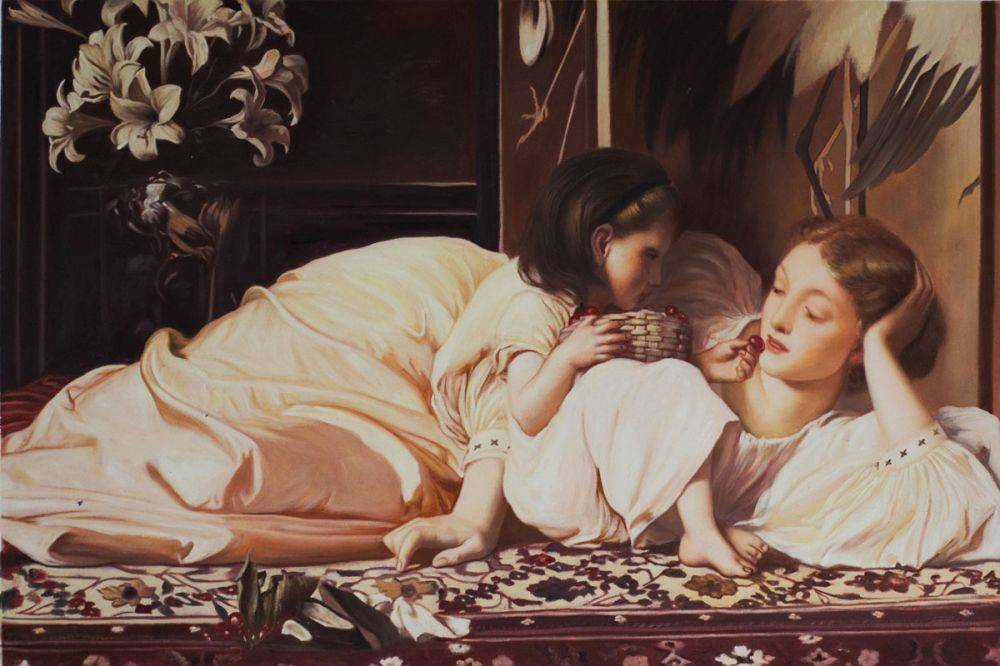 Lord-Frederic-Leighton_Mother-and-Child_Daughter's-Day