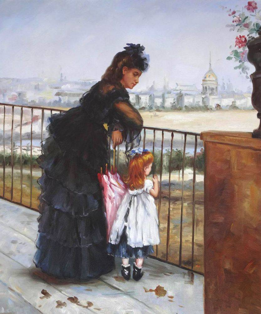 Berthe-Morisot_Woman-and-Child-on-a-Balcony_Daughter's-Day
